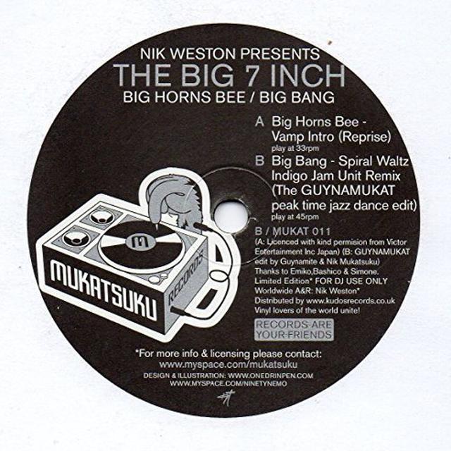 Big Horns Bee / Big Bang BIG 7 INCH Vinyl Record - UK Import
