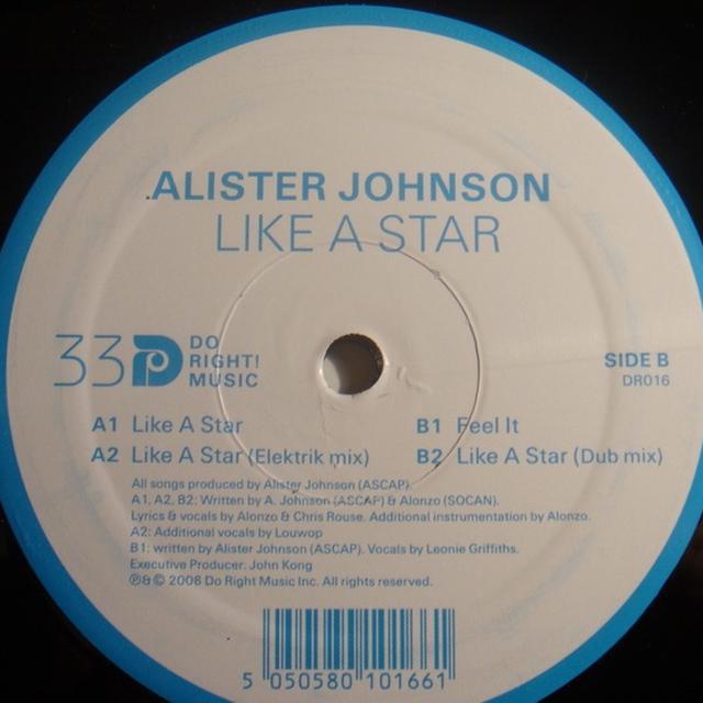 Alister Johnson LIKE A STAR Vinyl Record - UK Release