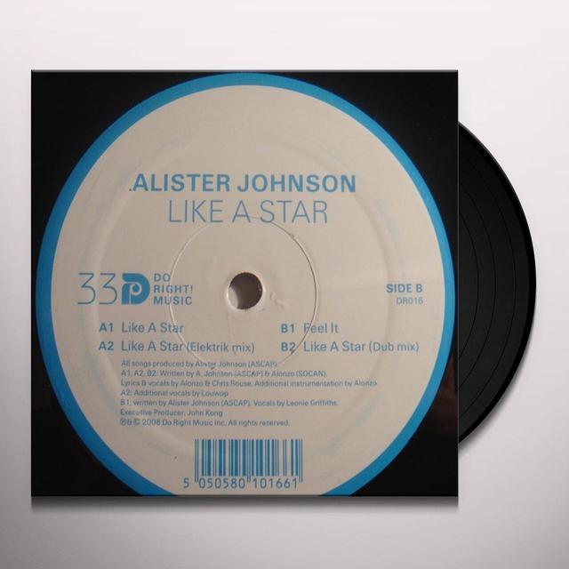 Alister Johnson LIKE A STAR Vinyl Record - UK Import