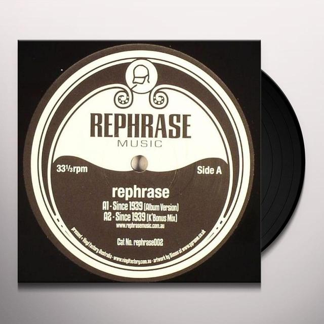 Rephrase SINCE 1939/MINK Vinyl Record - UK Import
