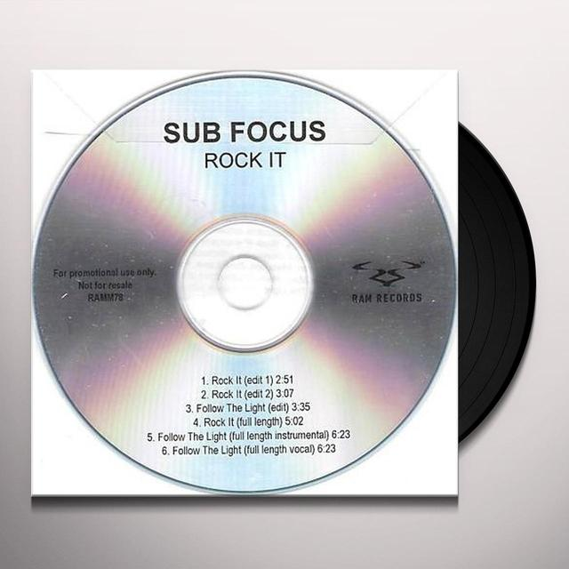 Sub Focus ROCK IT Vinyl Record - UK Release