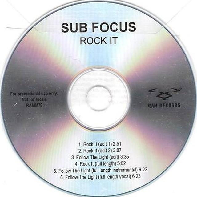 Sub Focus ROCK IT Vinyl Record - UK Import