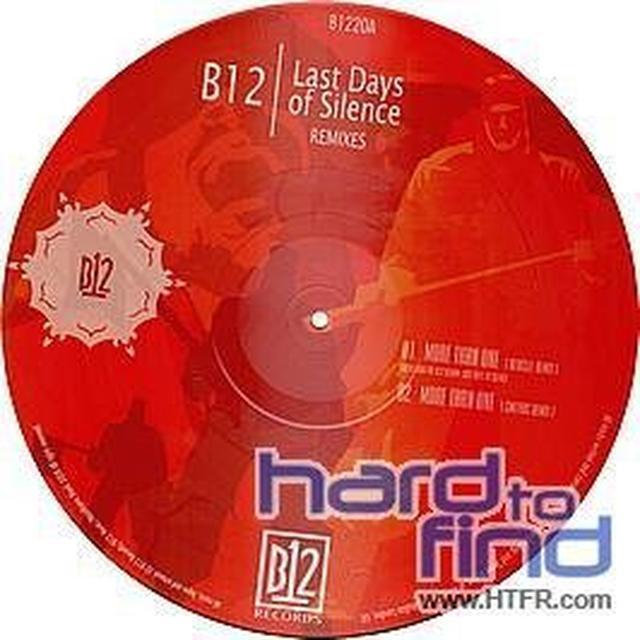 B12 LAST DAYS OF SILENCE REMIXES Vinyl Record - UK Release