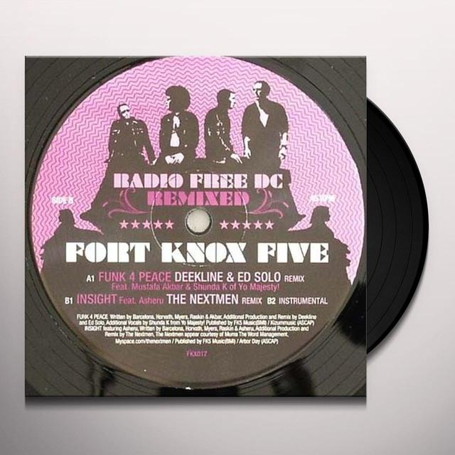Fort Knox Five RADIO FREE DC REMIXED 4 Vinyl Record - UK Import