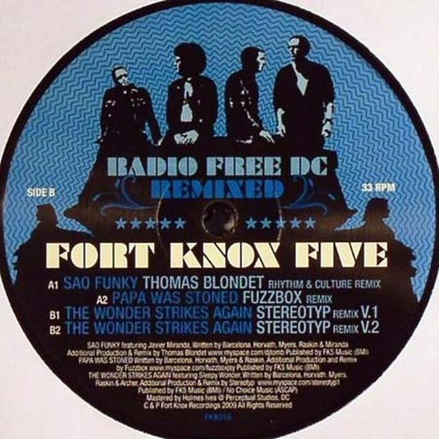 Fort Knox Five RADIO FREE DC REMIXED 6 Vinyl Record - UK Import