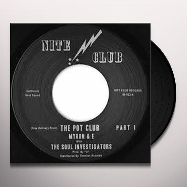 Myron & E With The Soul Investigators POT CLUB Vinyl Record - UK Import