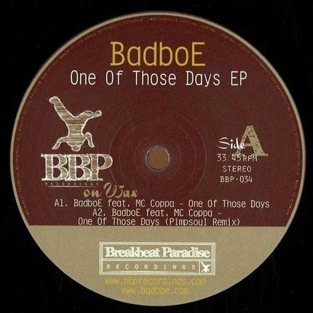 Badboe ONE OF THOSE DAYS EP Vinyl Record - UK Release