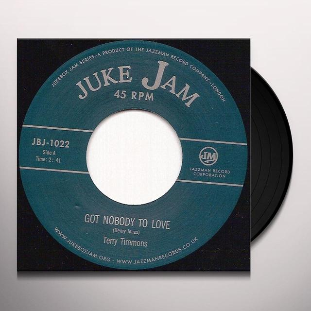 Terry Timmons GOT NOBODY TO LOVE Vinyl Record - UK Release