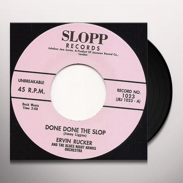 Ervin Rucker DONE DONE THE SLOP Vinyl Record - UK Release