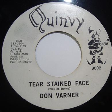 Don Varner TEAR STAINED FACE/MOJO MAMA Vinyl Record