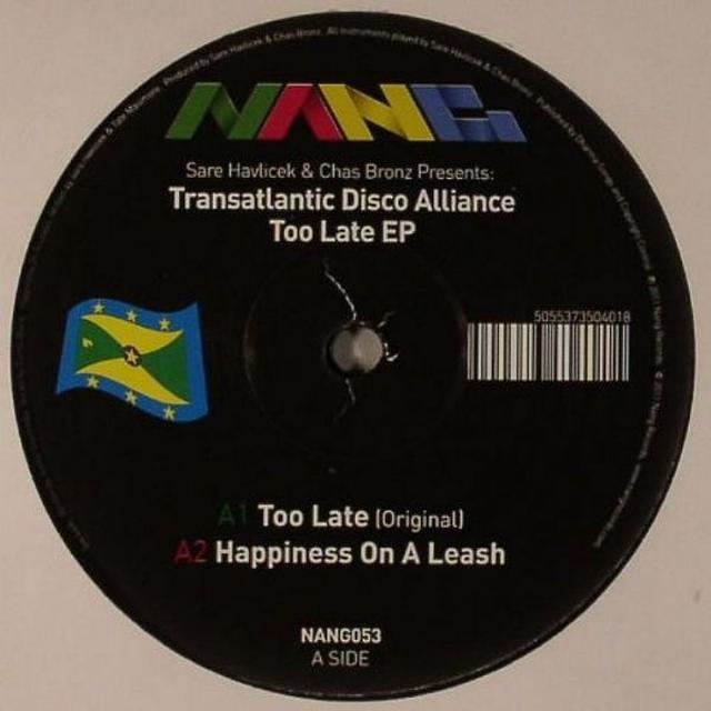 Transatlantic Disco Alliance TOO LATE EP Vinyl Record - UK Release