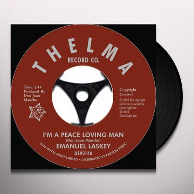 Emanuel Laskey I'M A PEACE LOVING MAN/DON'T LEAD ME ON Vinyl Record - UK Release