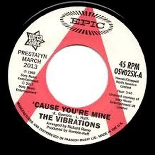 The Vibrations CAUSE YOU'RE MINE/FOLLOW YOUR HEART Vinyl Record - UK Release