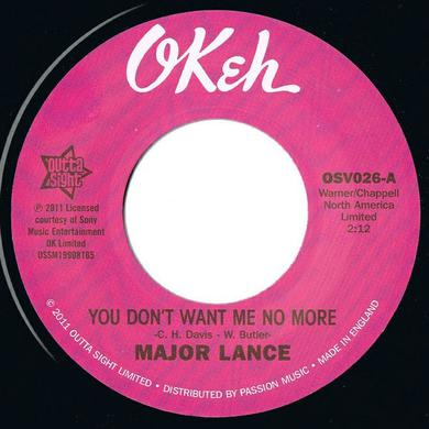 Major Lance YOU DON'T WANT ME NO MORE/DON'T FIGHT IT Vinyl Record