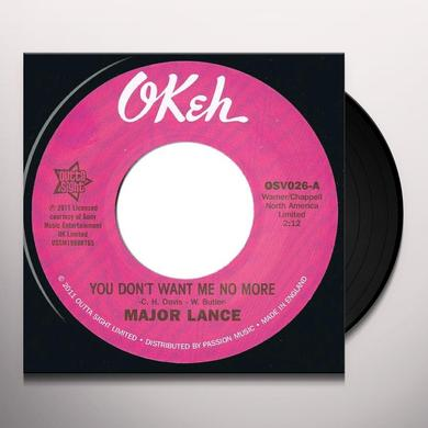 Major Lance YOU DON'T WANT ME NO MORE/DON'T FIGHT IT Vinyl Record - UK Import