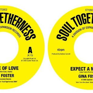 Gina Foster B SIDE OF LOVE/EXPECT A MIRACLE Vinyl Record