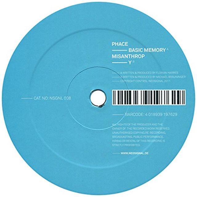 Phace & Misanthrop BASIC MEMORY/Y Vinyl Record