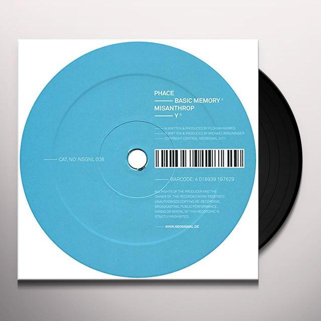 Phace & Misanthrop BASIC MEMORY/Y Vinyl Record - UK Import