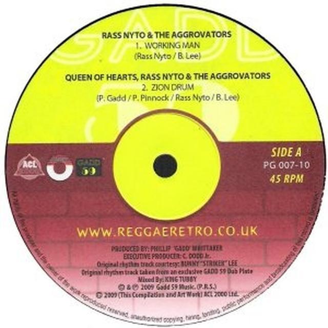 Ras Nyto WORKING MAN Vinyl Record