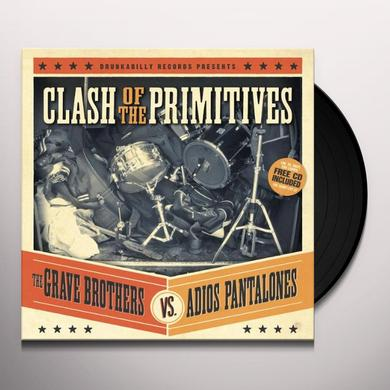Grave Brothers Vs Adios Pantalones CLASH OF THE PRIMITIVES Vinyl Record