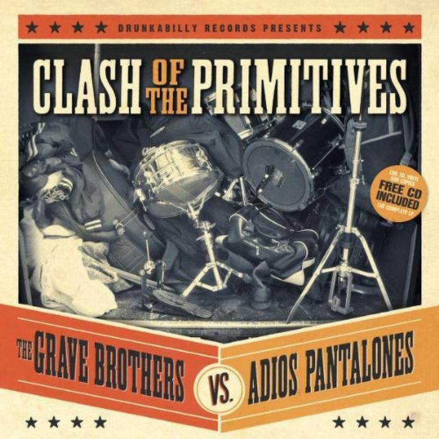 Grave Brothers Vs Adios Pantalones CLASH OF THE PRIMITIVES Vinyl Record - w/CD