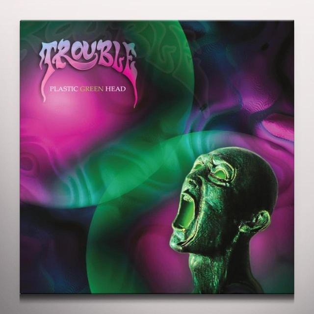 Trouble PLASTIC GREEN HEAD Vinyl Record - Colored Vinyl, Limited Edition