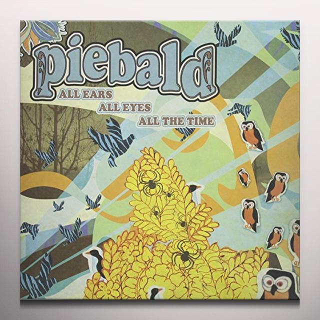 Piebald ALL EARS ALL EYES ALL THE TIME Vinyl Record - Colored Vinyl, Limited Edition, 180 Gram Pressing