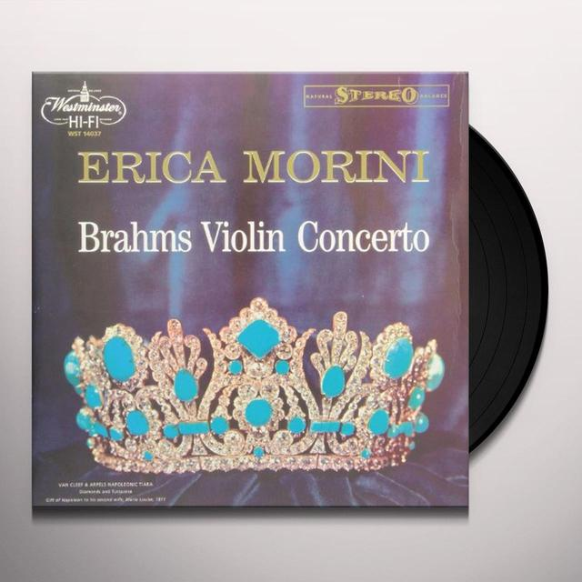 Brahms / Rodzinski VIOLIN CONCERTO Vinyl Record - 180 Gram Pressing