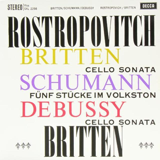 Britten / Rostropovich SONATA IN C FOR CELLO & PIANO Vinyl Record - 180 Gram Pressing