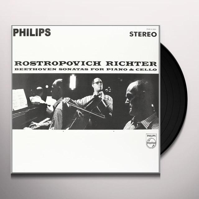 Beethoven / Rostropovich / Richter SONATAS FOR PIANO & CELLO Vinyl Record - 180 Gram Pressing
