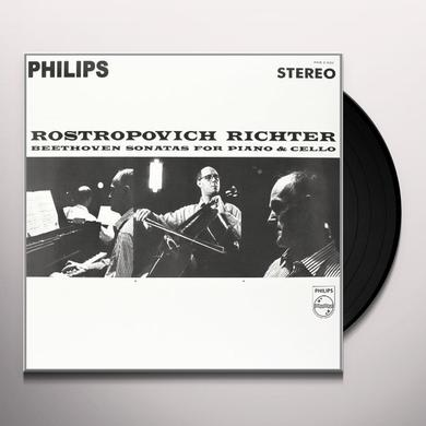 Beethoven / Rostropovich / Richter SONATAS FOR PIANO & CELLO Vinyl Record