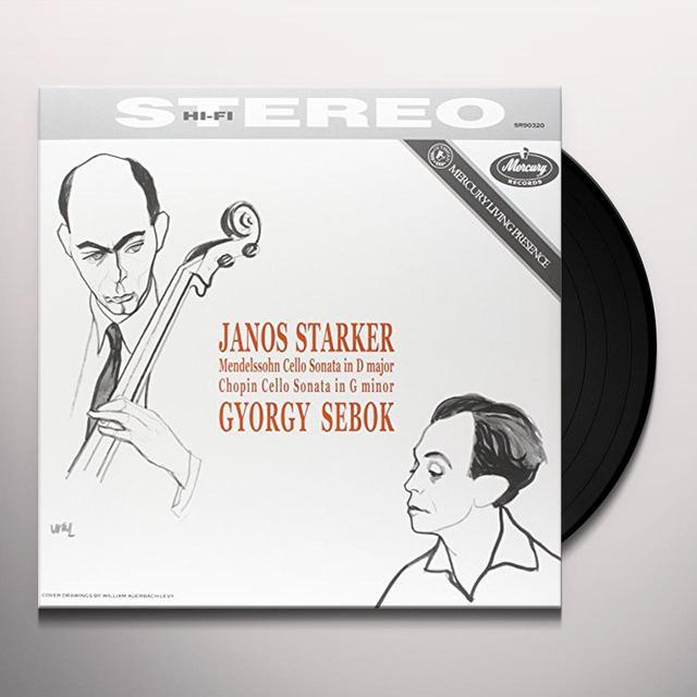 Mendelssohn / Chopin / Starker / Sebok CELLO SONATAS Vinyl Record - 180 Gram Pressing