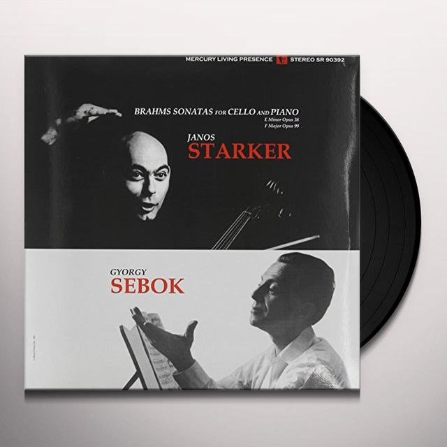Brahms / Starker / Sebok SONATAS FOR CELLO & PIANO 1 & 2 Vinyl Record - 180 Gram Pressing