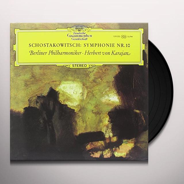 Shostakovich / Von Karajan SYMPHONY 10 Vinyl Record - 180 Gram Pressing