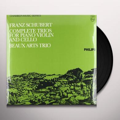 Schubert / Beaux Arts Trio COMPLETE TRIOS FOR PIANO VIOLIN & CELLO Vinyl Record