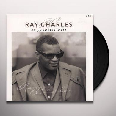 Ray Charles 24 GREATEST HITS Vinyl Record - Holland Import