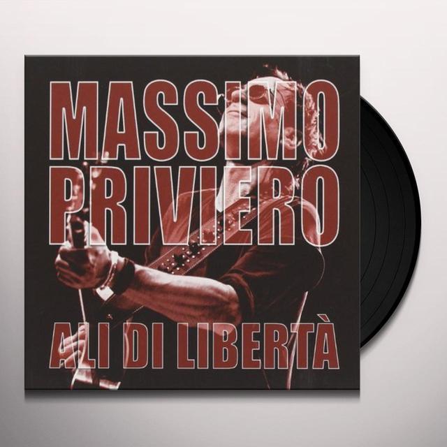 Massimo Priviero ALI DI LIBERTA Vinyl Record - Italy Import