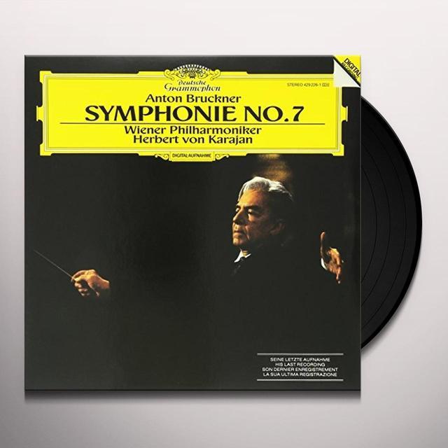 Anton Bruckner SYMPHONY NO. 7/VON KARAJAN (HK) Vinyl Record