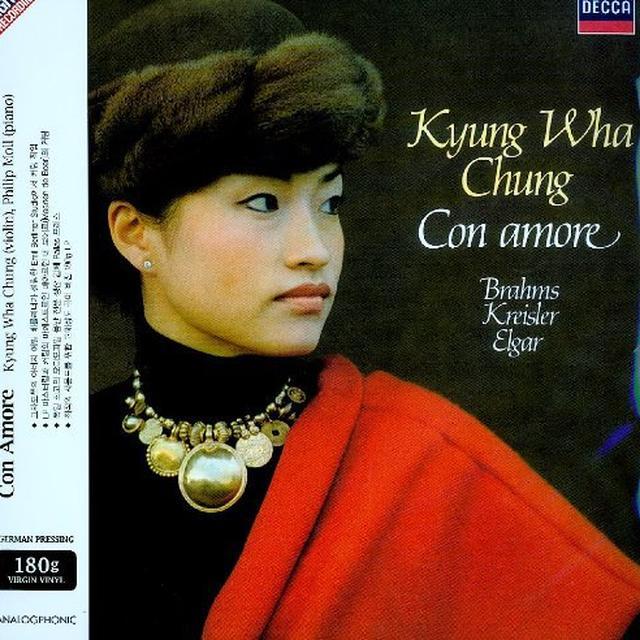 Kyung Wha Chung CON AMORE/BRAHMS KREISLER ELGAR Vinyl Record