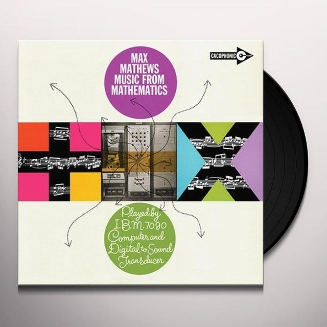 Max Mathews MUSIC FROM MATHEMATICS Vinyl Record