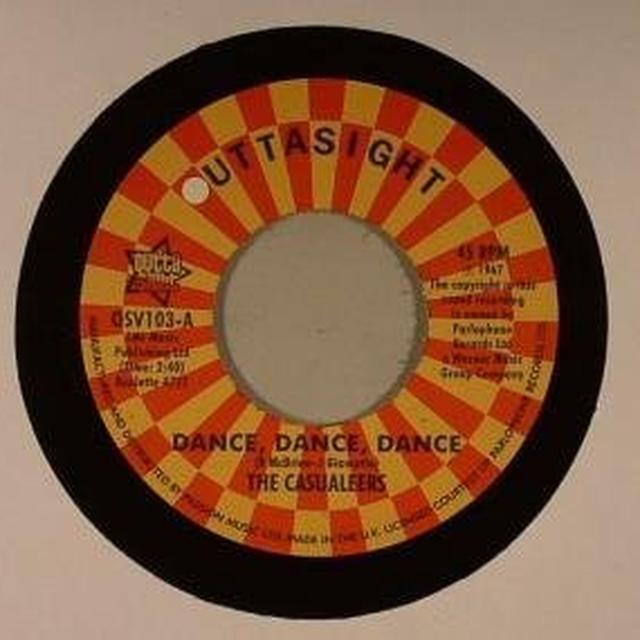 Chuck Wood Casualeers DANCE DANCE DANCE/SEVEN DAYS TOO LONG Vinyl Record