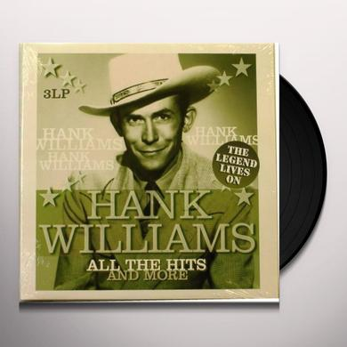 Hank Williams ALL THE HITS & MORE Vinyl Record - Holland Import