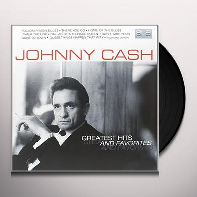 Johnny Cash GREATEST HITS & FAVORITES Vinyl Record