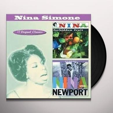 Nina Simone AT NEWPORT/FORBIDDEN FRUIT Vinyl Record