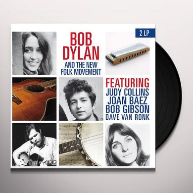 BOB DYLAN & THE NEW FOLK MOVEMENT Vinyl Record