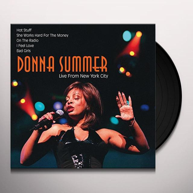 Donna Summer LIVE FROM NEW YORK CITY Vinyl Record