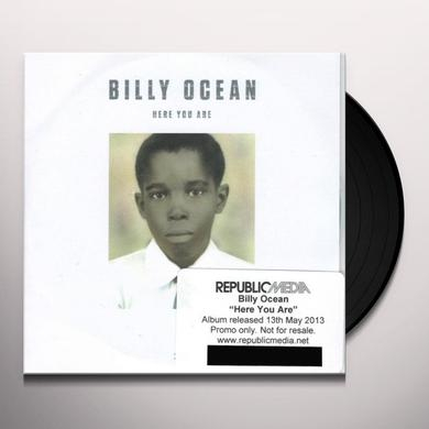 Billy Ocean HERE YOU ARE Vinyl Record - UK Release