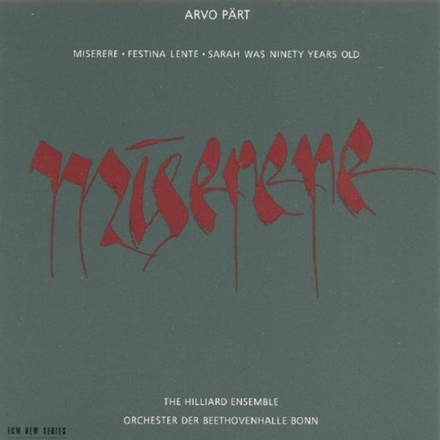 A. Paert MISERERE Vinyl Record - Spain Import