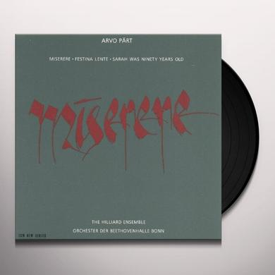 A. Paert MISERERE Vinyl Record - Spain Import
