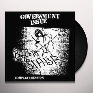 Government Issue BOYCOTT STABB COMPLETE SESSION Vinyl Record - Canada Import